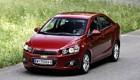 Chevrolet Aveo красный, вид спереди