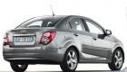 Chevrolet Aveo серый вид сзади