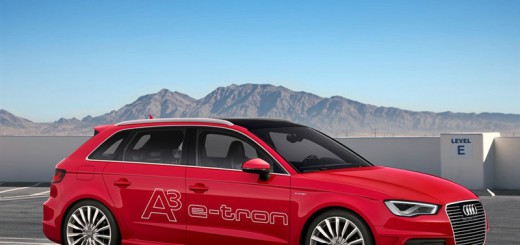 AUDI A8 e-tron в красном цвете