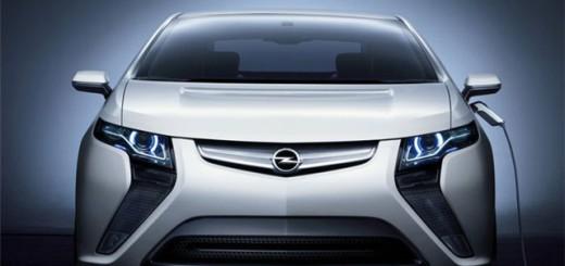 Вид сперели на Opel Ampera (опель Ампера)