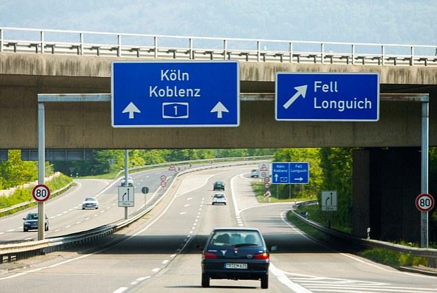 Автобан в Германии по которому можно передвигаться на арендованном автомобиле