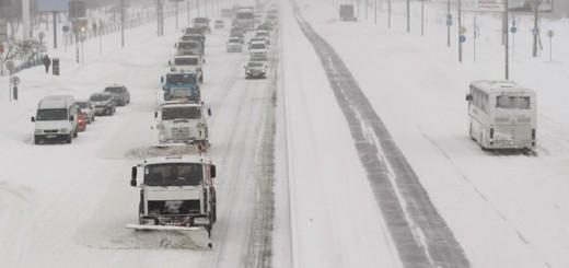 Обильный снегопад в Воронеже, зима 2014