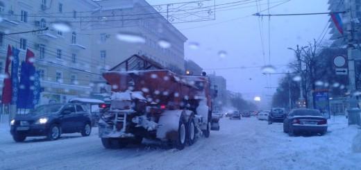 Улицы Воронежа, 30.12.14, фото из соцсетей