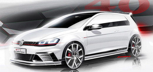 Автомобиль Volkswagen Golf Clubsport, эскиз