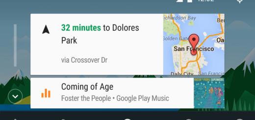 Android Auto 1.2, экран навигации