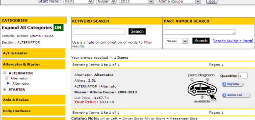 Скриншот фирменного сайта Nissan