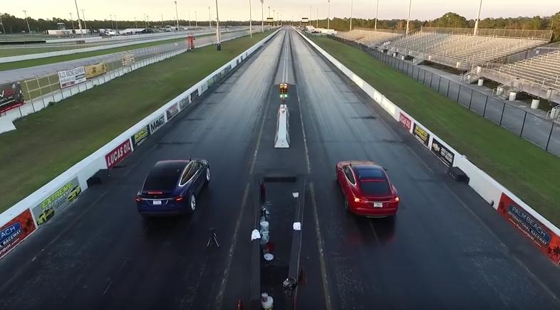 Состязания между Tesla Model X и Tesla Model S