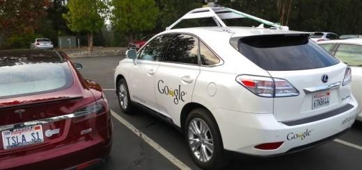 Седан Lexus, дооборудованный фирмой Google