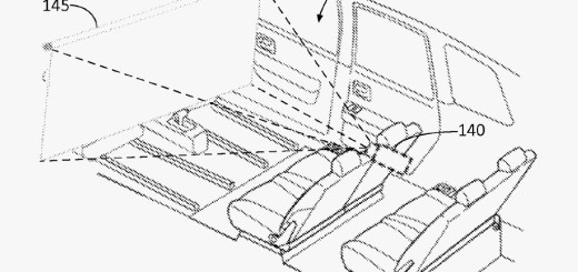 Новый патент Ford, рулонный экран