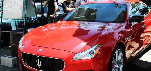 Android N, Maserati Ghibli