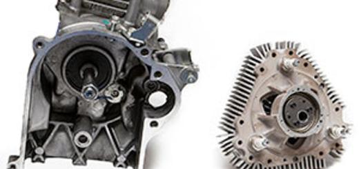 Роторный (справа) и обычный (слева) ДВС