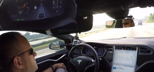 Спидометр показывает 75 миль/час (надо 65)