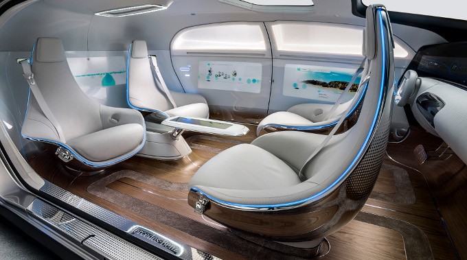 Салон автомобиля F015 Luxury, Mercedes-Benz