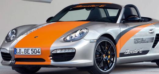Porsche Boxster E, 2011 год