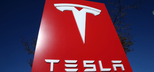 Эмблема офиса Tesla Inc., штат Техас